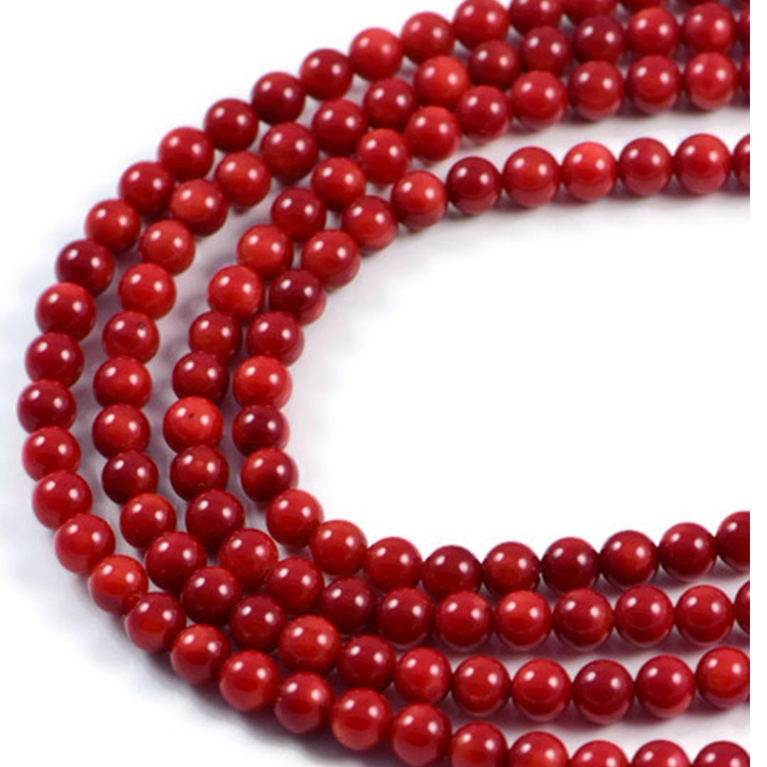 Semi Precious Red Coral 5mm Round Gemstone Jewellery Making Beads On 15 Inch Ebay