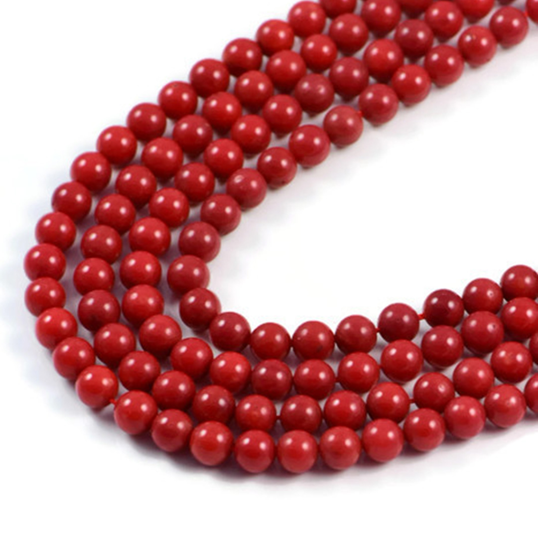 a13fcb71023b7 Semi-Precious Red Coral 4.5mm Round Gemstone Jewellery Making Beads on 19.5  inch Strand