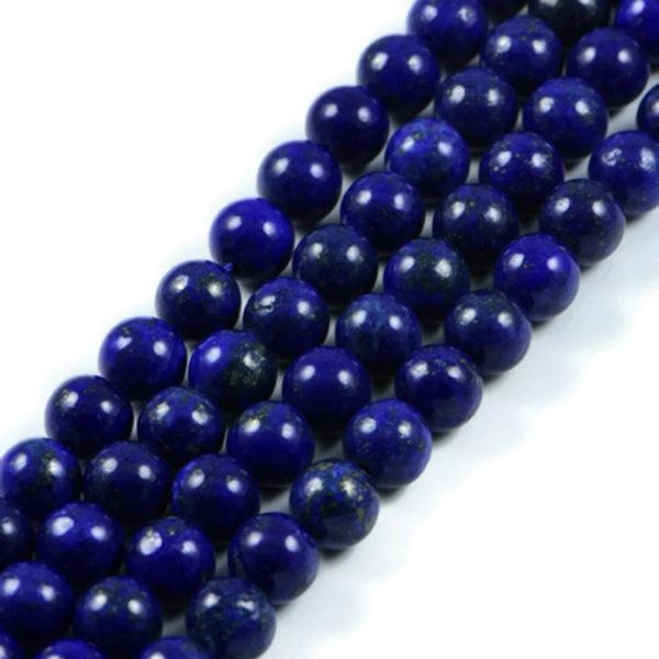 Premium Genuine Lapis Lazuli 10mm Round Gemstone Jewellery Making Beads on 15.5 inch Strand