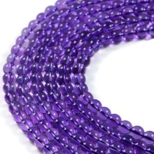 AqBeadsUk Semi-Precious Crystal Energy Stones with Natural Healing Power - Premium Genuine Amethyst 6mm Round Gemstone Jewellery Making Beads on 15.5 inch Strand