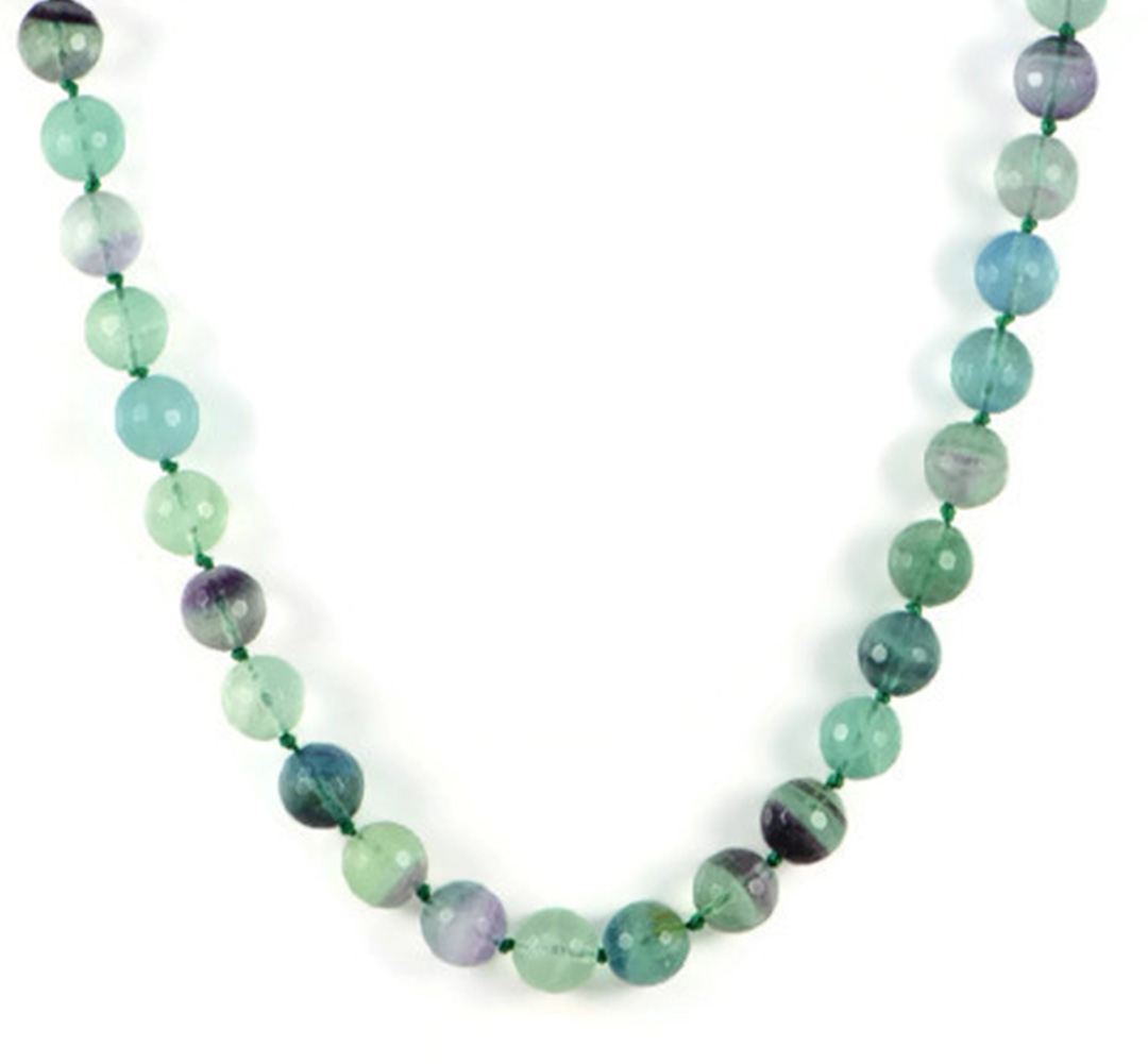 """Faceted 6-14mm Blue Zoisite Round Gems Beads Necklace 18/"""""""