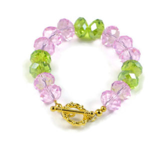 Classic 12x9mm Muliicolour Swarovski Crystal Faceted Rondlle Beads 7.2 inch Luxury Handmade Women's Bracelet