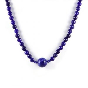 Classic Semi-Precious Gemstone 10mm Natural Dark Purple Dyee Jade Faceted Round Beads 17 inch Luxury Handmade Women's Necklace