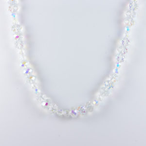 Classic Crystal Faceted 14x10mm Rondelle 8mm Round AB Coated Beads 21.5 inch Approx Handmade Women's Necklace