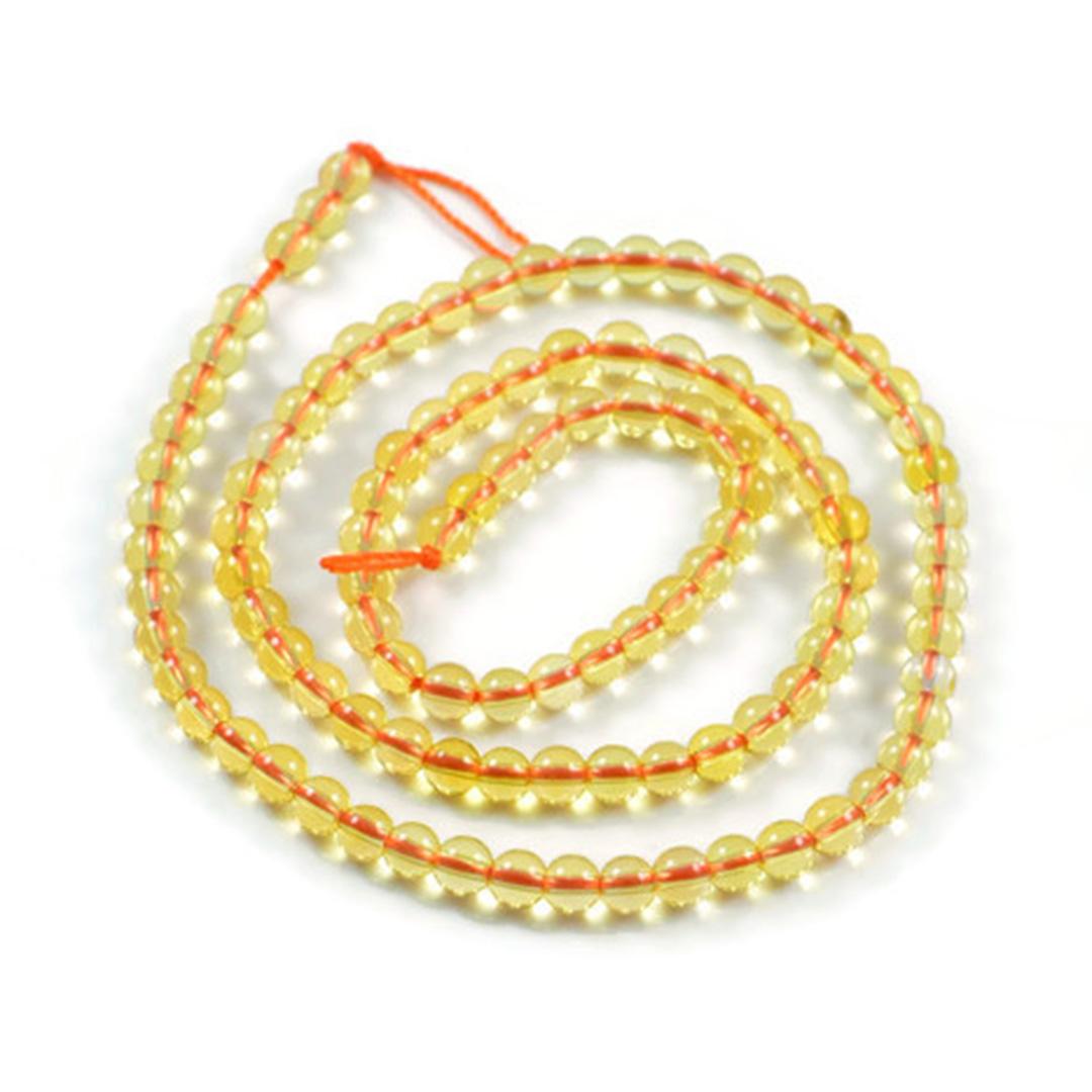 "Semi-Precious Natural Citrine Round Gemstone Jewellery Beads 15.5""- 4mm 6mm 8mm"