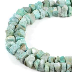 """Semi-Precious Natural Amazonite 8-18x6mm Gemstone Jewellery making Beads 16"""""""