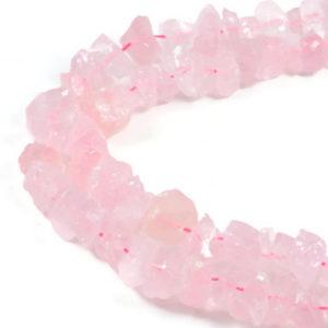 "Semi-Precious Natural Rose Quartz 8-18x6mm Gemstone Jewellery making Beads 16"""