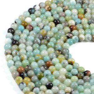 Semi-Precious Amazonite 8mm Round Gemstone Jewellery Making Beads On 15.5 Inch Strand