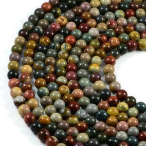 Semi-Precious Ocean Jasper 8mm Round Gemstone Jewellery Making Beads On 15.5 Inch Strand