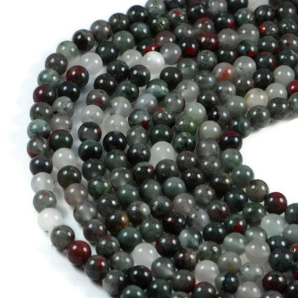 Semi-Precious Natural Africa Red Jasper 8mm Round Gemstone Jewellery Making Beads On 15.5 Inch Strand