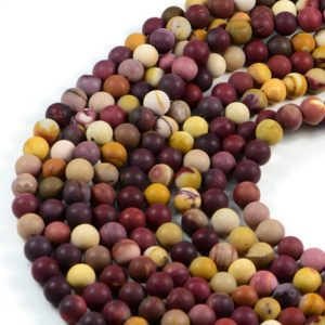 Semi-Precious Natural Frosted Moonkaite 8mm Round Gemstone Jewellery Making Beads On 15 Inch Strand