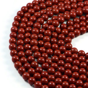 Semi-Precious Natural Red Jasperr 8mm Round Gemstone Jewellery Making Beads On 15 Inch Strand