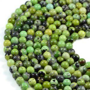 Semi-Precious Natural Australia Jade 8mm Round Gemstone Jewellery Making Beads On 15 Inch Strand