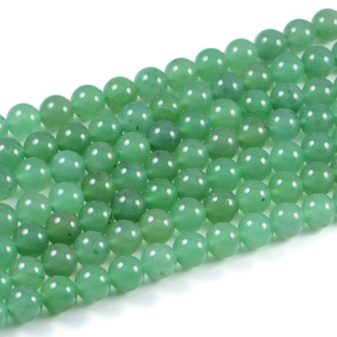 Semi-Precious Natural Green Aventurine 10mm Round Gemstone Jewellery Making Beads On 15.5 Inch Strand