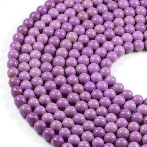 Semi-Precious Natural Purple Phosphosiderite 8mm Round Gemstone Jewellery Making Beads On 16 Inch Strand