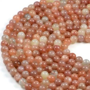 Semi-Precious Natural Multi Colour Moonstone 8mm Round Gemstone Jewellery Making Beads On 16 Inch Strand