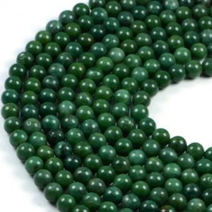 Semi-Precious Natural Africa Jade 8mm Round Gemstone Jewellery Making Beads On 15.5 Inch Strand