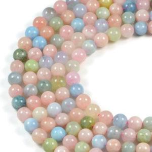 Semi-Precious Natural Beryl Round Gemstone Jewellery Making Beads On 15 Inch Strand-8mm 10mm
