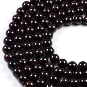 Semi-Precious Natural Garnet 10mm Round Gemstone Jewellery Making Beads On 15.5 Inch Strand