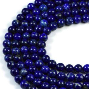 Semi-Precious Natural Lapis Lazuli Round Gemstone Jewellery Making Beads On 15 Inch Strand-6mm 8mm 10mm