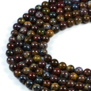 Semi-Precious Natural Pietersite Round Gemstone Jewellery Making Beads On 15.5 Inch Strand-8mm 10mm