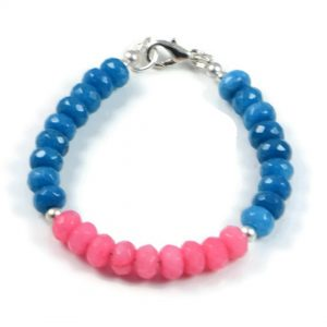 "Semi-Precious Gemstone 8x5mm Jade Faceted Beads 7.75"" Luxury Handmade Women's Bracelet"