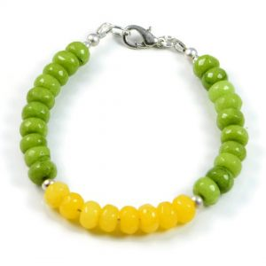 "Semi-Precious Gemstone 8x5mm Jade Faceted Beads 7.9"" Luxury Handmade Women's Bracelet"