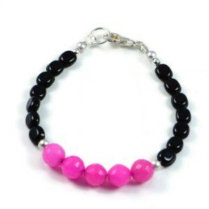 "Semi-Precious Gemstone Agate Beads 7.5"" Luxury Handmade Women's Bracelet"