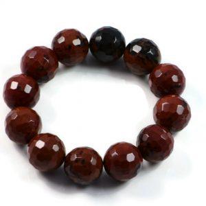 "Semi-Precious Gemstone 13mm Agate Beads 6.5"" Stretch Bracelet on Elastic Cord"