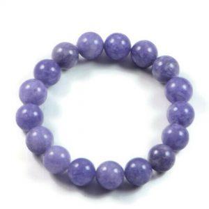 "Semi-Precious Gemstone 10mm Aquamarine Beads 6.75"" Stretch Bracelet on Elastic Cord"